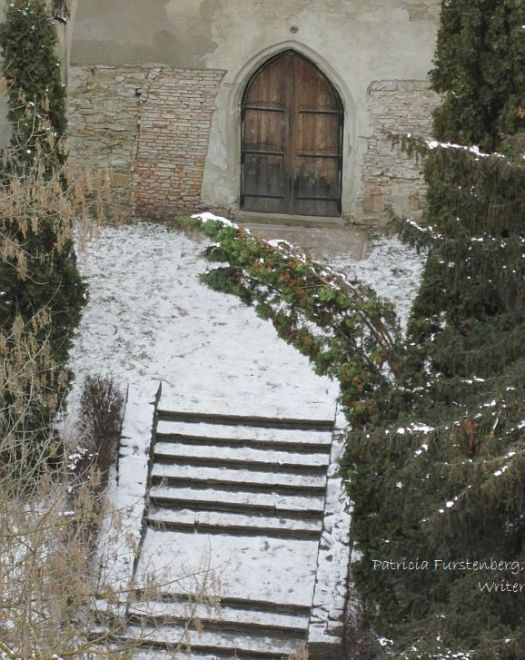 A medieval door to the Church on the Hill in Sighisoara