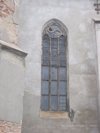 Gothic window detail emphasizing vertical space