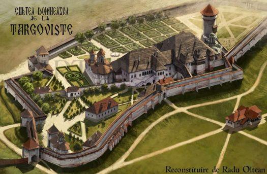 Târgoviște, a Royal Palace in History - reconstruction by Radu Oltean from Art Historia
