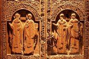 Snagov monastery, paraclis wood carved doors