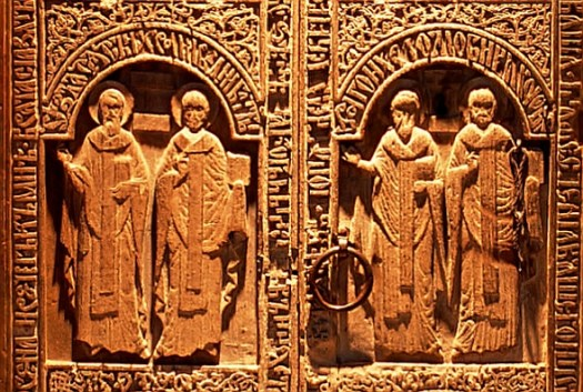 wooden doors medieval monastery, Snagov chapel, usi paraclis