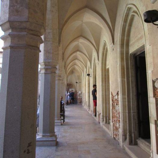 Corvin Castle gothic gallery, inner court