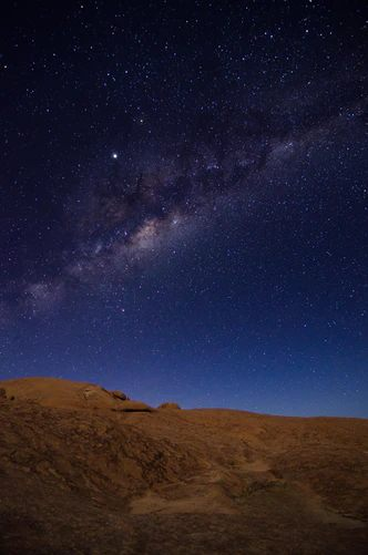 Namib desert at night - How the Snake Lost Its Legs. Photo by Sergi Ferrete for Unsplash
