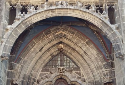 Black Church Golden Portal, gothic style, focus on tympanum and archivolts