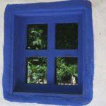 blue framed windows Romania