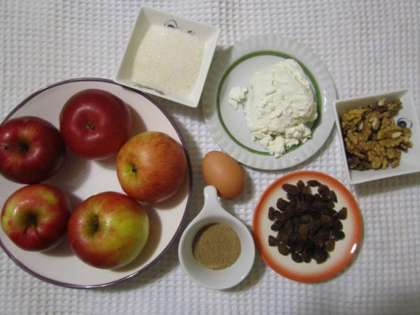 ингредиенты печеные яблока