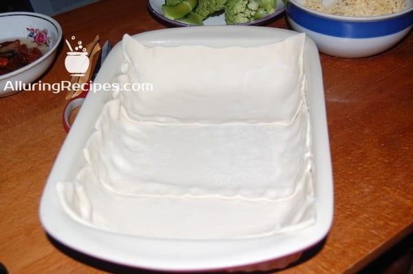 киш на слоеном тесте - alluringrecipes.com