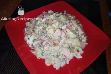 Самый простой салат из редиски