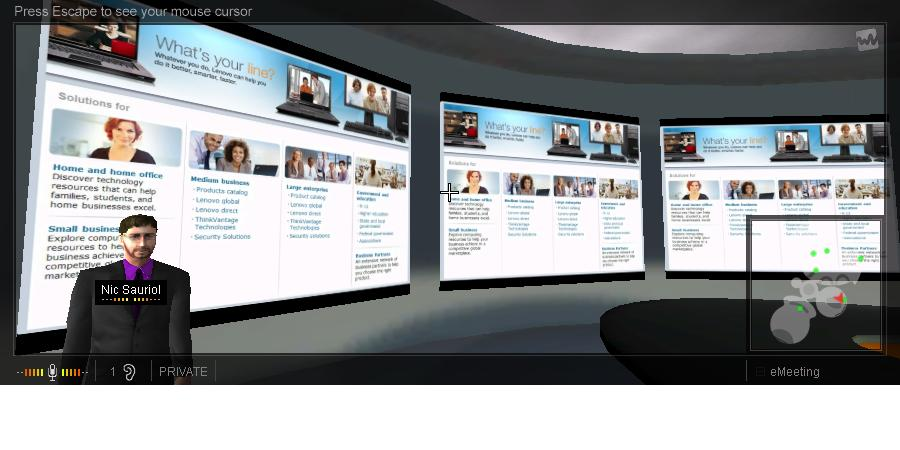 Lenovo eLounge (screen capture of private room)