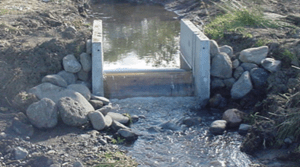 Newly Installed Briggs Weir