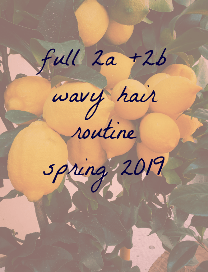 Wavy Hair Routine for Spring (Moderate Weather) for Curly Hair 2a and 2b