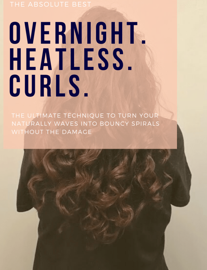 The BEST Overnight Curls for Wavy Hair – Heatless Curls for Wavy Hair