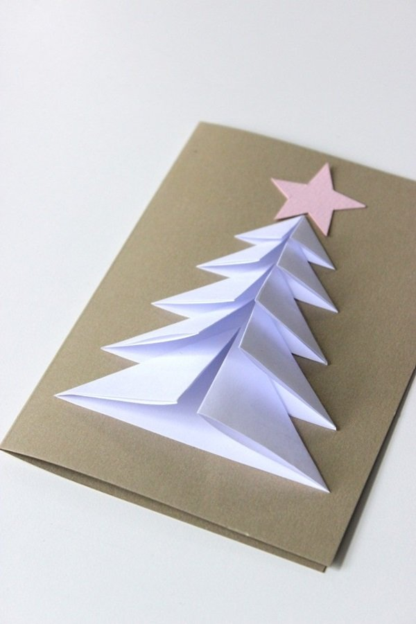 как сделать елку из открыток какие