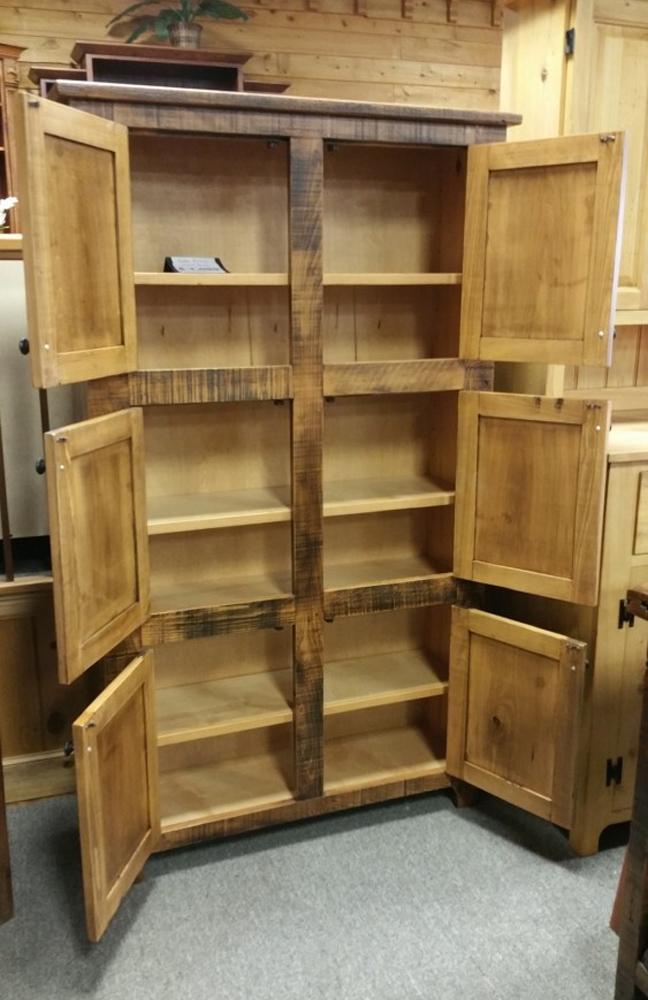 Rustic Shaker 6 Door Pie Safe W Wood Panels