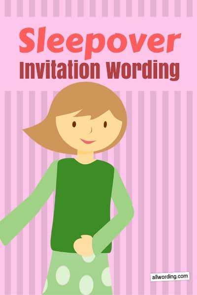 sleepover invitation wording 21 dreamy