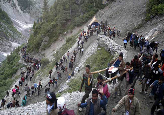 Route to amarnath temple