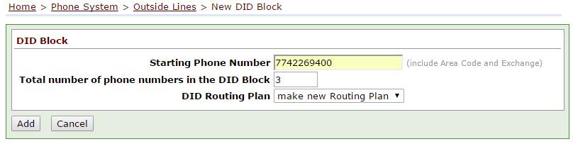 Enabling DID Blocks on an Allworx Phone System