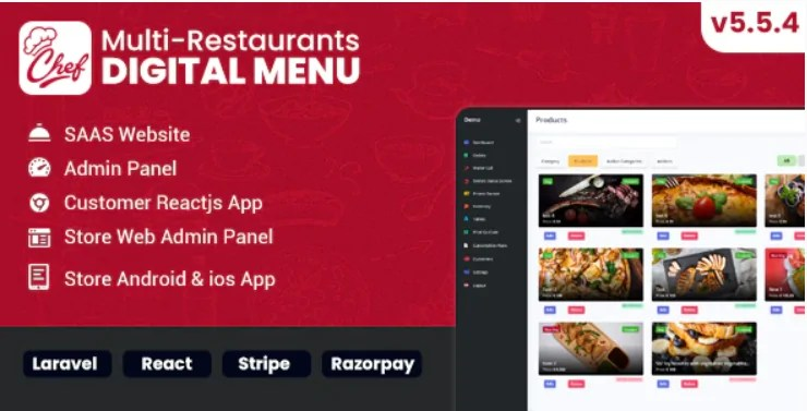 You are currently viewing Chef 6.1.0 – Multi-restaurant Saas – Contact less Digital Menu Admin Panel
