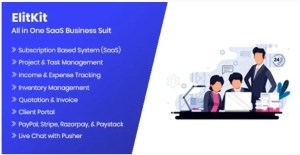 Read more about the article ElitKit 1.9.1 – All In One SaaS Business Suit