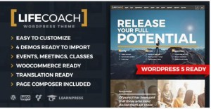 Read more about the article Life Coach 2.2.7 – WordPress Theme