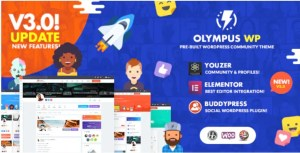 Read more about the article Olympus 3.80 – Social Networking WordPress Theme