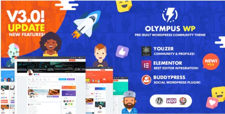 You are currently viewing Olympus 3.80 – Social Networking WordPress Theme