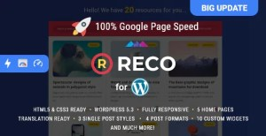 Read more about the article Reco 4.6.0 NULLED – Minimal Theme for Freebies
