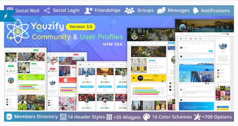 You are currently viewing Youzify 3.2.3 + Addons (formerly Youzer) – BuddyPress Community