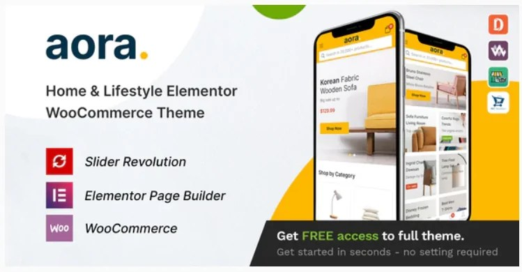 You are currently viewing Aora 1.1.5 – Home & Lifestyle Elementor WooCommerce Theme
