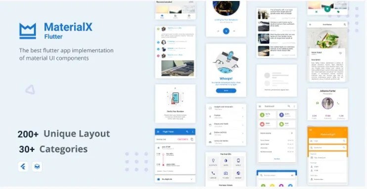 You are currently viewing MaterialX Flutter 2.1.1 – Flutter Material Design UI Components