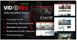 Read more about the article VidoRev 2.9.9.9.8.6 NULLED – Video WordPress Template