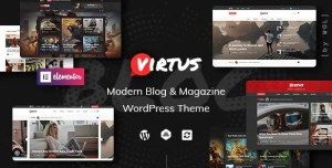 Read more about the article Virtus 1.1.4 NULLED – Modern Blog & Magazine WordPress Theme
