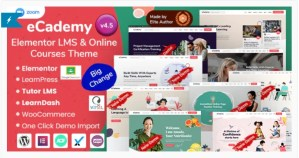 Read more about the article eCademy 4.9.1 Nulled – Elementor LMS & Online Courses Education Theme