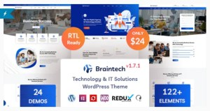 Read more about the article Braintech 2.3.1 – Technology & IT Solutions WordPress Theme