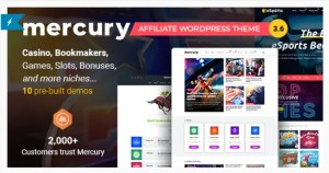 Read more about the article Mercury 3.7 NULLED – Affiliate WordPress Casino & Gambling Theme