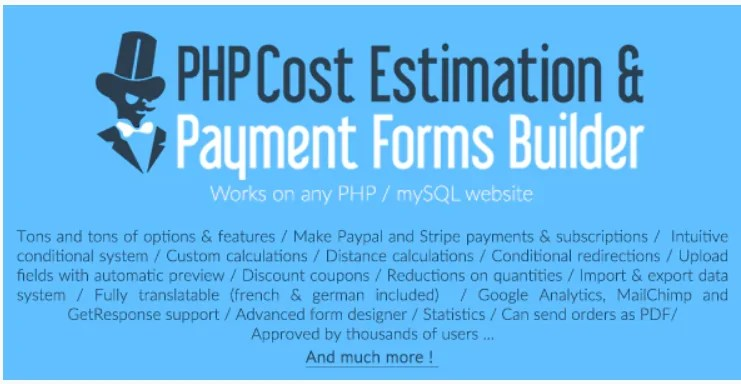 You are currently viewing PHP Cost Estimation & Payment Forms Builder 1.06 Nulled