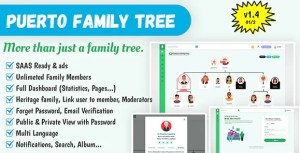 Read more about the article Puerto Family Tree Builder SAAS 1.4 – PHP Script