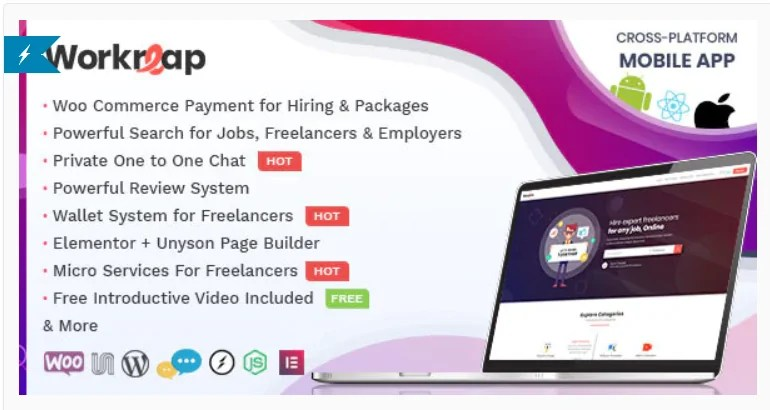 You are currently viewing Workreap 2.2.7 – Freelance Marketplace and Directory WordPress Theme
