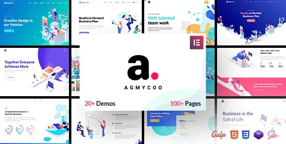 You are currently viewing Agmycoo 1.9 – Digital Agency WordPress Theme