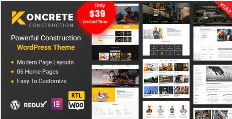 You are currently viewing Koncrete 1.5.8 – Construction Building WordPress Theme