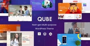 Read more about the article Qube 1.1.3 NULLED – Responsive Multi-Purpose Theme