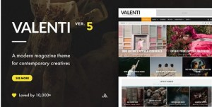 Read more about the article Valenti 5.6.3.4 – WordPress HD Review Magazine News Theme