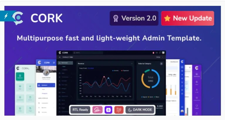 You are currently viewing Cork 2.1.0 – Responsive Admin Dashboard Template