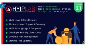 Read more about the article HYIPLAB 2.1 Nulled – Complete HYIP Investment System
