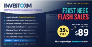 Read more about the article Investorm 1.1.1 Nulled – Advanced HYIP Investment Management Platform
