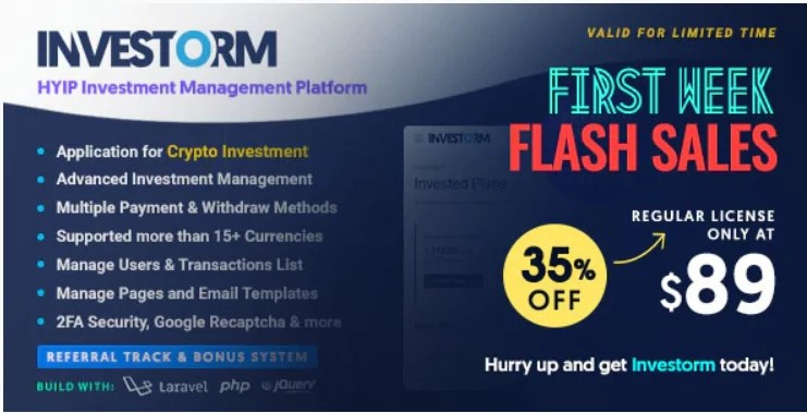 You are currently viewing Investorm 1.1.1 Nulled – Advanced HYIP Investment Management Platform