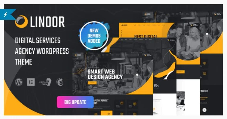 You are currently viewing Linoor 1.5.1 – Digital Agency Services WordPress Theme