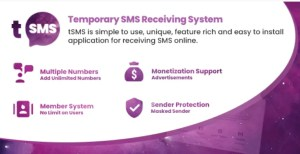 Read more about the article tSMS 1.9 Nulled – Temporary SMS Receiving System