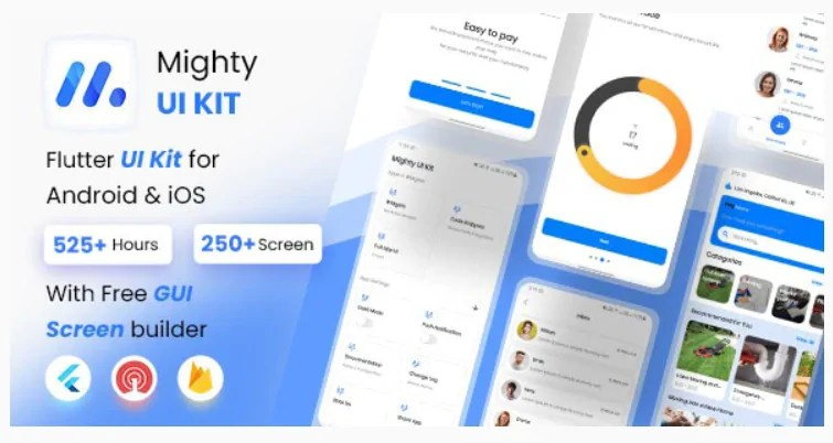 You are currently viewing MightyUIKit 3.3.0 – Flutter 2.0 UI Kit with Screen Builder