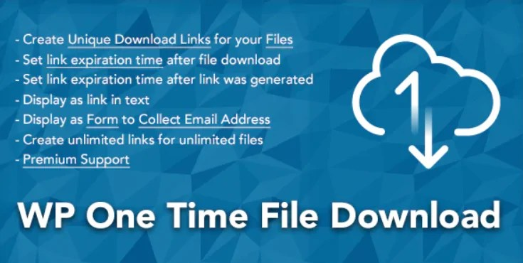 You are currently viewing WP One Time File Download 2.6.3 – WordPress Plugin